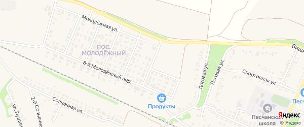 2-й Молодежный переулок на карте села Песчанки с номерами домов