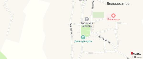 Вишневая улица на карте Беломестного села с номерами домов