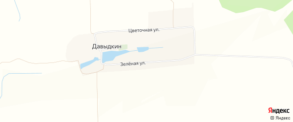 Карта хутора Давыдкина в Белгородской области с улицами и номерами домов