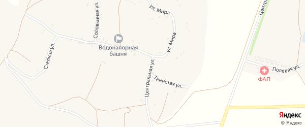 Улица Мира на карте села Котеневки с номерами домов