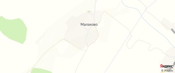 Карта села Малахово в Белгородской области с улицами и номерами домов