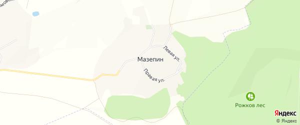 Карта хутора Мазепина в Белгородской области с улицами и номерами домов