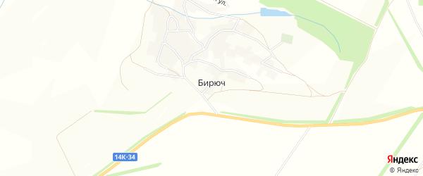 Карта села Бирюча в Белгородской области с улицами и номерами домов