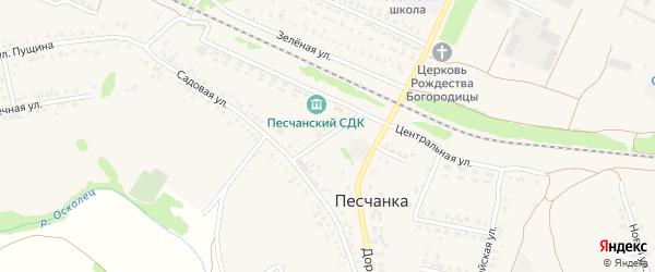 Почтовый переулок на карте села Песчанки с номерами домов