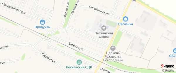 Школьная улица на карте села Песчанки с номерами домов