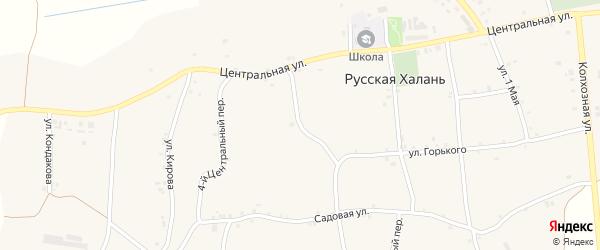 3-й Центральный переулок на карте села Русской Халани с номерами домов