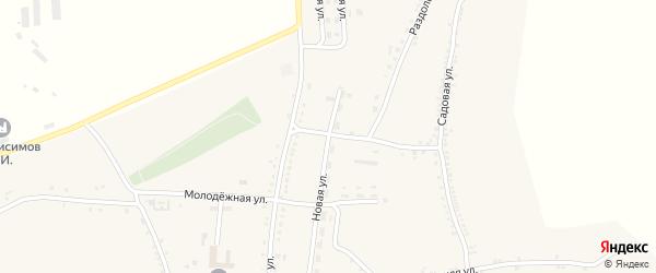 Новая улица на карте Беломестного села с номерами домов