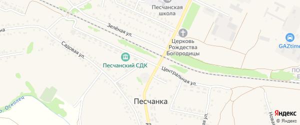 Центральная улица на карте села Песчанки с номерами домов