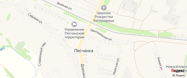 1-й Майский переулок на карте села Песчанки с номерами домов