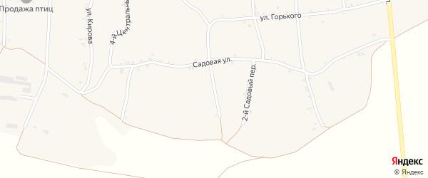 3-й Садовый переулок на карте села Русской Халани с номерами домов
