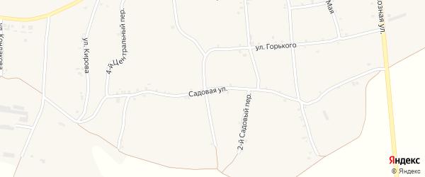 Садовая улица на карте села Русской Халани с номерами домов