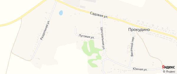 Молодежная улица на карте села Прокудино с номерами домов