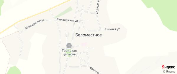 Карта Беломестного села в Белгородской области с улицами и номерами домов