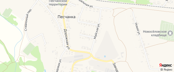 3-й Майский переулок на карте села Песчанки с номерами домов
