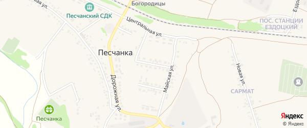 2-й Майский переулок на карте села Песчанки с номерами домов