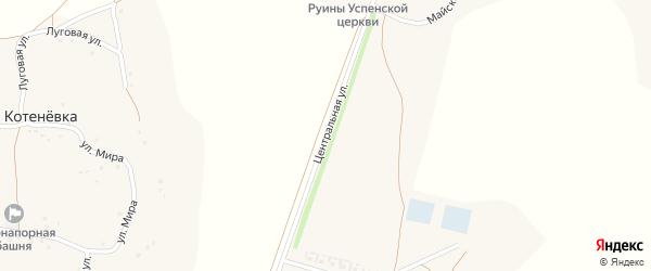Центральная улица на карте села Верхне-Чуфичево с номерами домов