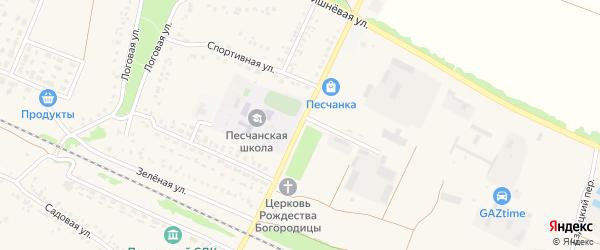 Полевая улица на карте села Песчанки с номерами домов