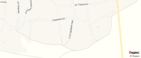 2-й Садовый переулок на карте села Русской Халани с номерами домов