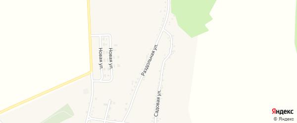 Раздольная улица на карте Беломестного села с номерами домов