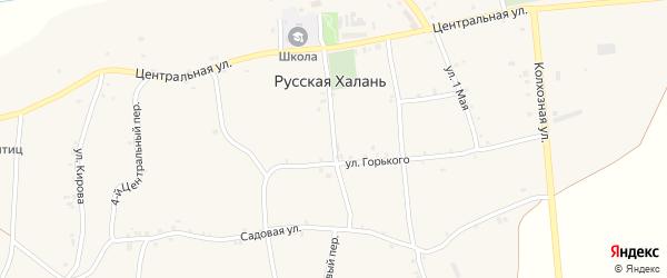 2-й Центральный переулок на карте села Русской Халани с номерами домов