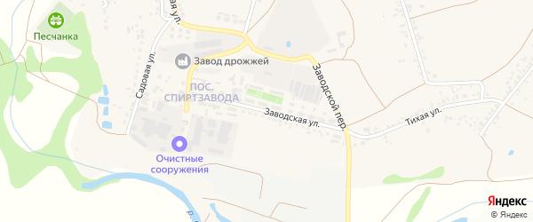 Заводская улица на карте села Песчанки с номерами домов