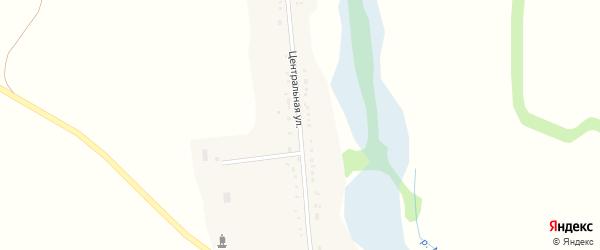 Центральная улица на карте села Верхние Лубянки с номерами домов