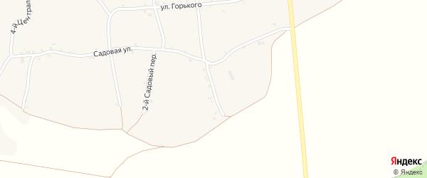 1-й Садовый переулок на карте села Русской Халани с номерами домов