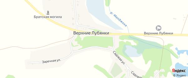 Зеленая улица на карте села Верхние Лубянки с номерами домов