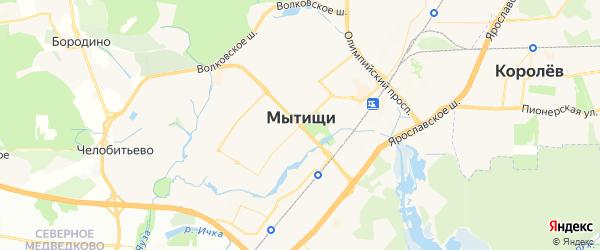 Карта Мытищ с районами, улицами и номерами домов