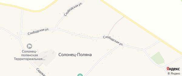 Слободская улица на карте села Солонца-Поляны с номерами домов