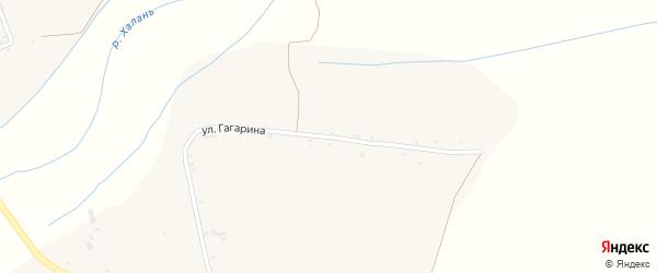 Улица Гагарина на карте села Русской Халани с номерами домов