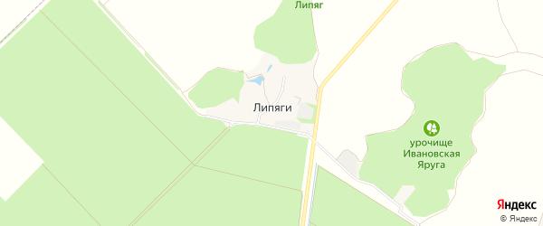 Карта хутора Липяги в Белгородской области с улицами и номерами домов