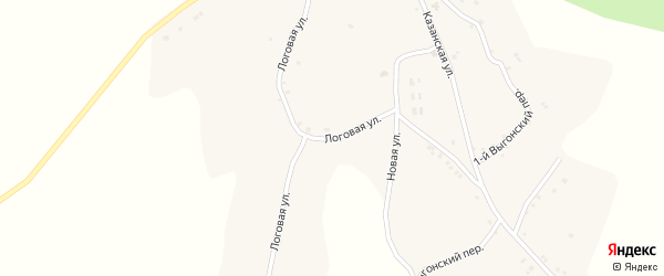 Логовая улица на карте села Комаревцево с номерами домов