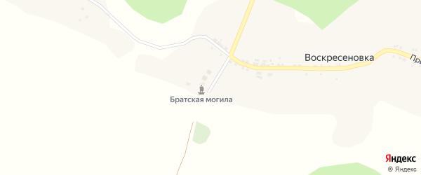 Полевая улица на карте села Воскресеновки с номерами домов
