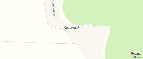 Красивая улица на карте Красивого поселка с номерами домов