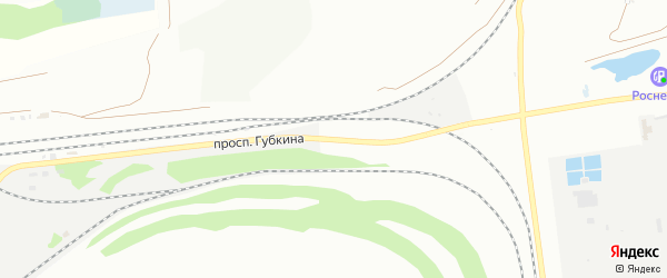 Проспект Губкина на карте Старого Оскола с номерами домов