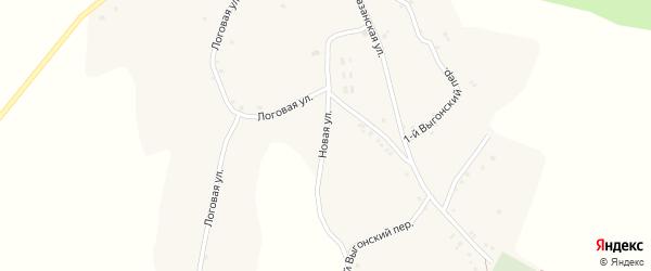 Новая улица на карте села Комаревцево с номерами домов