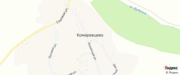 Переулок Марьевская на карте села Комаревцево с номерами домов