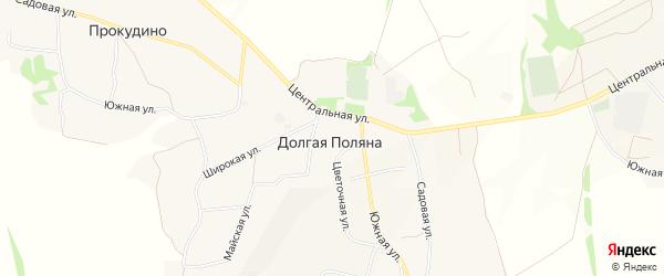 Территория Андреевская балка на карте Белгорода с номерами домов