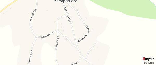 Горовая улица на карте села Комаревцево с номерами домов