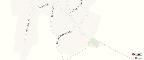 2-й Выгонский переулок на карте села Комаревцево с номерами домов