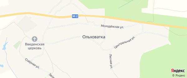 Карта села Ольховатки в Белгородской области с улицами и номерами домов