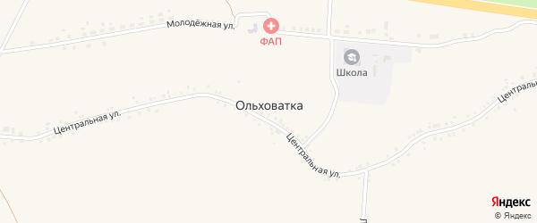 Звонкая улица на карте села Ольховатки с номерами домов