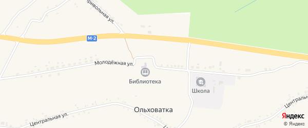 Молодежная улица на карте села Ольховатки с номерами домов