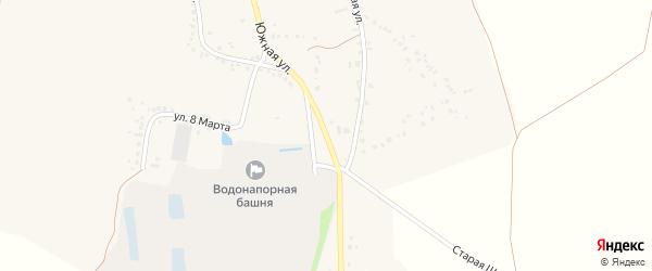 Южная улица на карте села Долгой Поляны с номерами домов