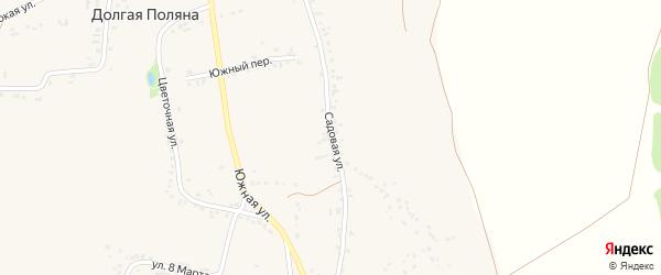 Садовая улица на карте села Долгой Поляны с номерами домов