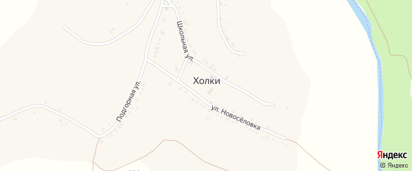 Улица Субботники на карте села Холки с номерами домов