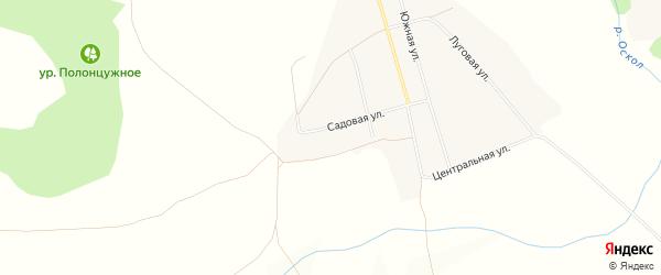 Карта села Слоновки в Белгородской области с улицами и номерами домов