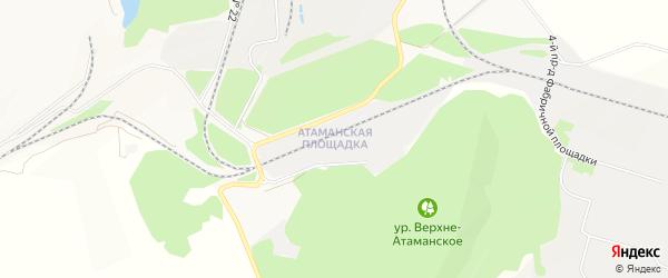 Карта территории Юго-западный промрайон города Старого Оскола в Белгородской области с улицами и номерами домов