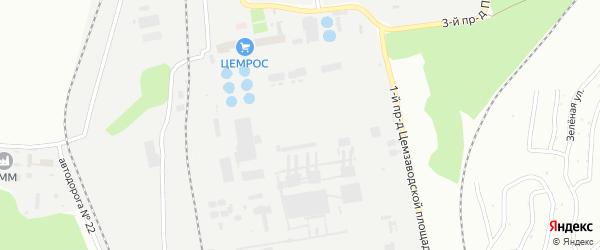 Площадка Цемзавода на карте Старого Оскола с номерами домов
